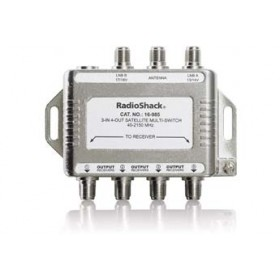 RadioShack 3-in / 4-out Satellite Passive Multi-Switch