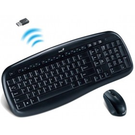 Genius KB-8000 Twintouch Wireless Multimedia Keyboard Mouse Combo 31340046106 1200 dpi