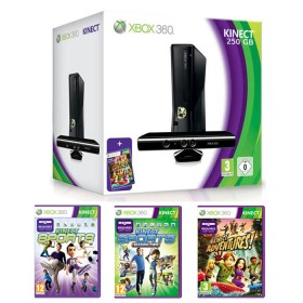MICROSOFT XBOX 360 KINECT 250GB CONSOLE + 3 GAMES