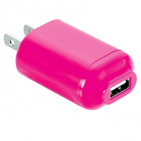 RadioShack DU1412 Wireless Gear AC USB Charger (Pink)