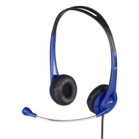 Hama 00053964 HS 260 PC Headset, With Mic & Volume Control blue