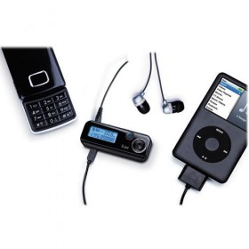 iLuv i720 Bluetooth Hands-Free Caller ID Display Kit with Remote Control & FM Transmitter, for iPods, iPhones - Black