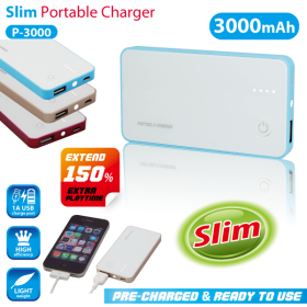 VANSON P-3000 POWER BANK 3.7V. 3000MAH.WITH LED FUNCTION-MICRO USB WHITE