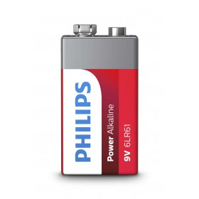 Philips 6LR61P1B/10  9V Power Alkaline Battery 9V