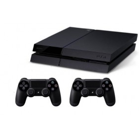 Sony CUH-1216B 1TB PlayStation 4 jetblack with 2 Dual Shock Controller, Black