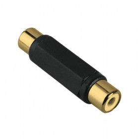 Hama 00123367 AUDIO ADAPTER, RCASOCKET-RCA SOCKET, GOLD-PLATED
