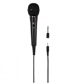 Hama 00046020 DM 20 Dynamic Microphone, Black