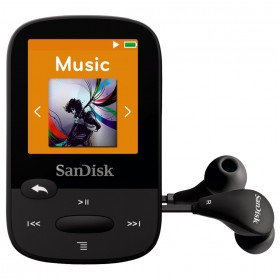 SanDisk SDMX24-004G-G46K  4GB internal memory and microSD slot (up to 16GB) MP3 PLAYER , Black