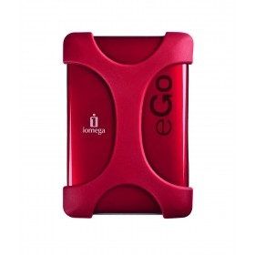 Iomega 34615 eGo Portable Hard Drive 320GB with Protection Suite USB3.0, (Ruby Red)