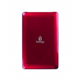 Iomega 34625 eGo Portable Hard Drive, USB 2.0/320GB - Firewire 400/800, 8MB Cache, Red, Mac Edition