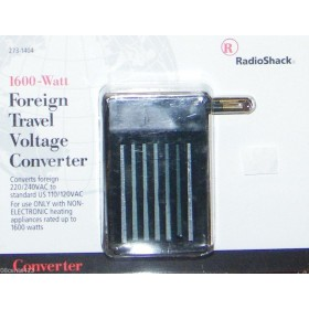 RadioShack 273-1404 Foreign Travel voltage converter