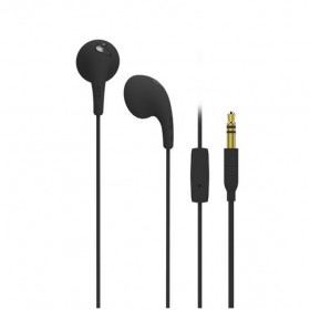 iLuv BBGUMTALKS Bubble Gum Talk Colorful Stereo Earphones with Mic and Remote, Black