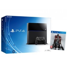 SONY CUH-1004A/B01 PlayStation 4  500GB , BLK +  GAME BLOODBORNE
