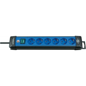 Brennenstuhl 1951360100 Premium-Line extension socket 6-way black/blue 3m H05VV-F 3G