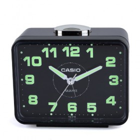 CASIO TQ-218-1D Alarm clock, black