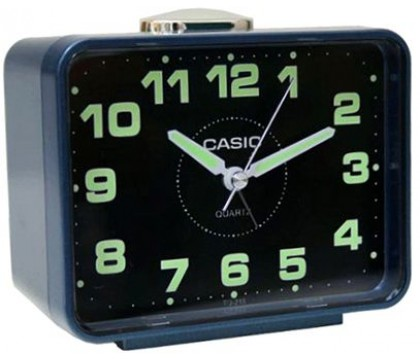 CASIO TQ-218-2D Alarm clock, blue