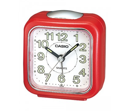 CASIO TQ-142-4D Alarm clock, red