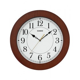 CASIO IQ-133-5DF ANALOG WALL CLOCK, DARK BROWEN