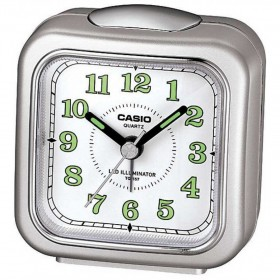 CASIO TQ-157-8D ANALOG CLOCK, SILVER