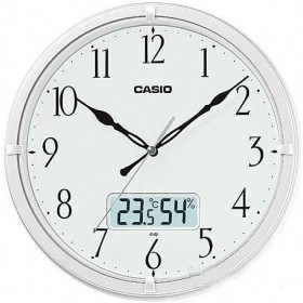 CASIO IC-02-7DF ANALOG WALL CLOCK, Pearl White