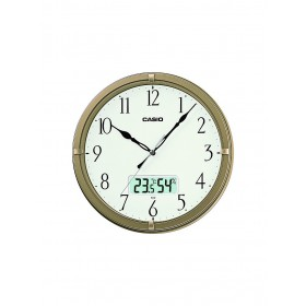CASIO IC-02-9DF ANALOG WALL CLOCK, CHAMPAGNE  GOLD
