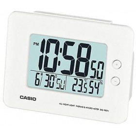 CASIO DQ-982N-7D DIGITAL CLOCK, WHITE