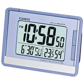 CASIO DQ-980-2D DIGITAL CLOCK, LIGHT BLUE