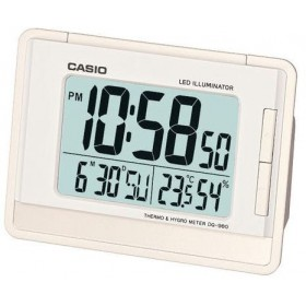 CASIO DQ-980-7D DIGITAL CLOCK, WHITE