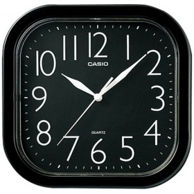 CASIO IQ-02S-1DF ANALOG WALL CLOCK, BLACK