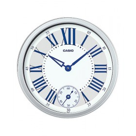 CASIO IQ-70-8DF ANALOG WALL CLOCK, SILVER