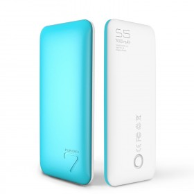 Puridea S5-BLUE Power Bank 7000mAh, 2 Ports, Blue