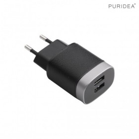 PURIDEA C05-BLACK SMART USB WALL CHARGER