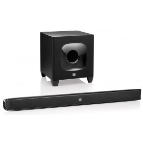 JBL Cinema SB 400 120-watt, wireless Cinema Soundbar and 100 Watts Wireless Powered Subwoofer System