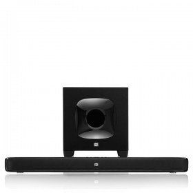 JBL CINEMA SB400 2 x 60-watt soundbar system, Bluetooth® and HDMI® connectivity, 100-watt wireless powered subwoofer