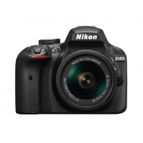 Nikon D3400 AF-P DX NIKKOR 18-55mm f/3.5-5.6G VR Lens, 24.2MP, FHD, Black
