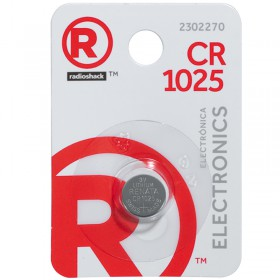RadioShack CR1025  3V/30mAh Lithium Coin Cell Battery