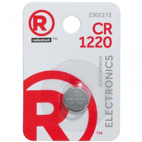 RadioShack  CR1220 3V/38mAh Lithium Coin Cell Battery