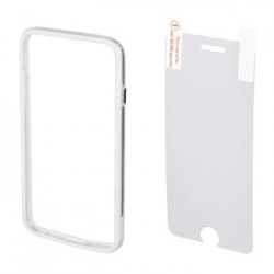 Hama 00135151 EDGE PROTECTOR COVER FOR IPHONE 6 plus and SCREEN Protector , white