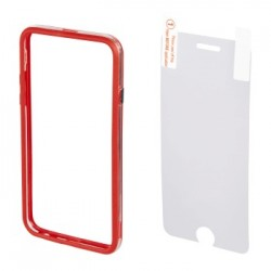 Hama 00135152 EDGE PROTECTOR COVER FOR IPHONE 6 plus and SCREEN Protecto , RED