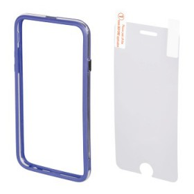 Hama 00135153 EDGE PROTECTOR COVER FOR IPHONE 6 plus and SCREEN Protecto , BLUE