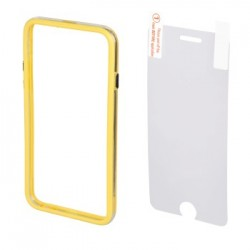 Hama 00135154 EDGE PROTECTOR COVER FOR IPHONE 6 plus and SCREEN Protecto , YELLOW