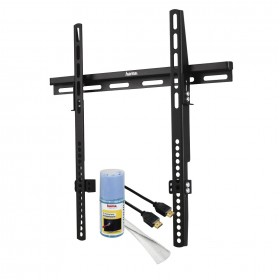 Hama 00109898 Fixed Wall Bracket 50 inch and Cleaning Spray and HDMI 1.5 m and Cloth Tube for Cables