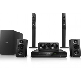 PHILIPS HTD5550/98 DOUBLE BASSPIPES 5.1 DVD HOME THEATER