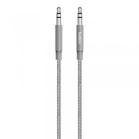 BELKIN AV10164BT04 AUX 3.5MM CABLE 4FT, GREY