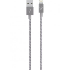 BELKIN F8J144BT04 USB TO LIGHTNING CABLE 1.2 M, GREY