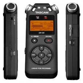Tascam DR-05 V2 PORTABLE RECORDER WITH MicroSD SLOT UP TO 32GB