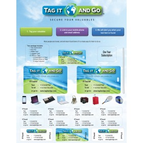 تاج إت أند جو (TAG IT AND GO) باقة 25 بطاقة