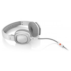 JBL J55i High-Performance On-Ear Headphones with JBL Drivers, Rotatable Ear-Cups and Microphone, White