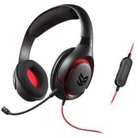 Creative GH0290 Sound Blaster Inferno Gaming Headset with Detachable Mic and In-Line Volume Control, Black