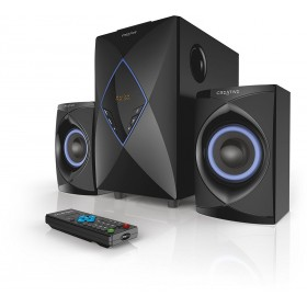 Creative SBS-E2800 2.1 Powerful All-in-one 2.1 Home Entertainment System (Black)
